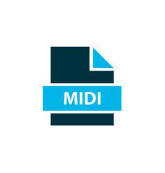 File midi icon colored symbol premium quality vector