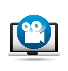 film movie online digital technology graphic vector image