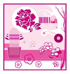 Floral display vector image