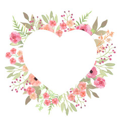 flowers heart beautiful paper art pink design vector image