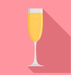 glass champagne icon flat style vector image