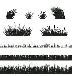 Grass seamless black and white vector