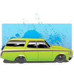 GreenWagon vector image
