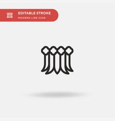 Hawaiian skirt simple icon vector