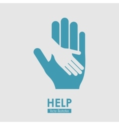 Help icon design vector image