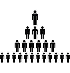 Human pictograph pyramid vector