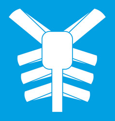 Human thorax icon white vector
