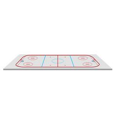 isolated hockey field vector image