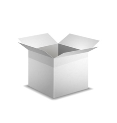 Isolated realistic open white box with shadow vector image