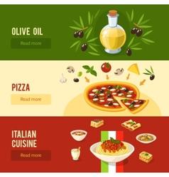Italian Food Banner Set vector
