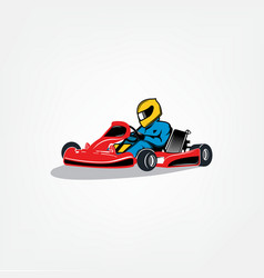 Karting icon vector