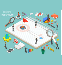Keyword research flat isometric concept vector