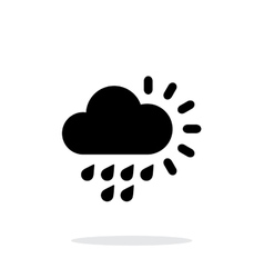 Light rain weather simple icon on white background vector image