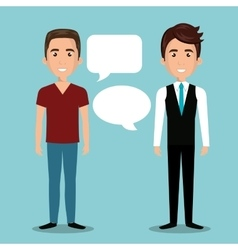 Men talking dialogue isolated vector