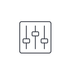 Mixer music equalizer setup thin line icon vector