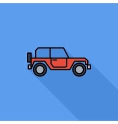 Offroad car vector image