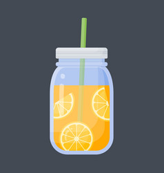 orange juice flat icon vector image