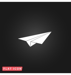 Paper Plane sign vector image