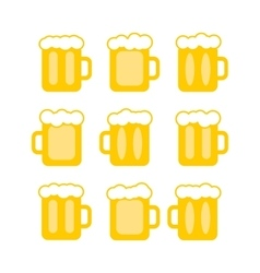 pint tankards vector image
