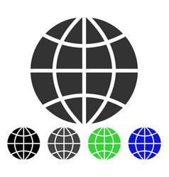 Planet globe flat icon vector