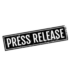 press release rubber stamp vector image