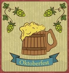 retro beer free label beer poster vector image