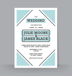 Retro wedding invitation template tradition vector