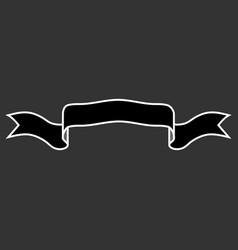 ribbon black sign 1709 vector image