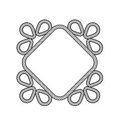 rope decor diamond vector image