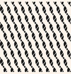 Seamless pattern with diagonal ropes stripes vector