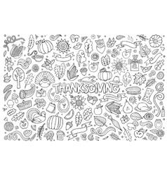Sketchy hand drawn doodle cartoon set vector