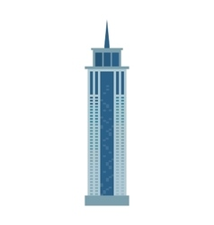Skyscraper icon isolated on white background vector image
