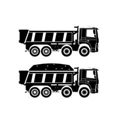 Tipper truck vector