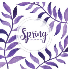 watercolor spring floral background vector image
