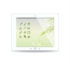 white tablet pc on background vector image