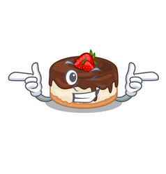 Wink cake berries in character that fresh vector