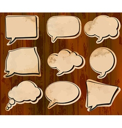 Aged speech bubbles vector image