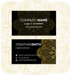 business card in oriental style vector image