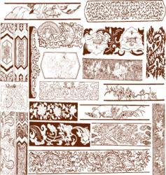 floral vintage vector image vector image