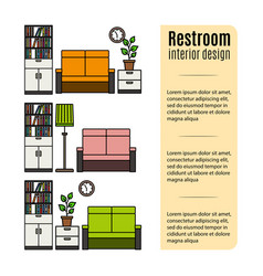 furniture for restroom infographic vector image vector image