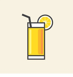 Healthy Refreshment A Glass Of Yellow Lemon Juice vector image vector image