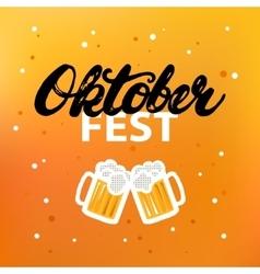 Octoberfest hand written calligraphy lettering vector image