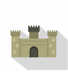 old fortress towers icon flat style vector image