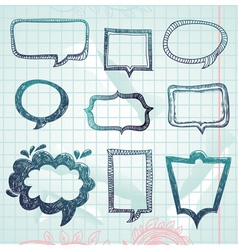 speech bubbles - hand-drawn vector image vector image