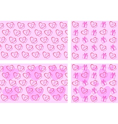 Set backgrounds Valentines Day vector image