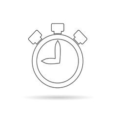 Stopwatch white vector
