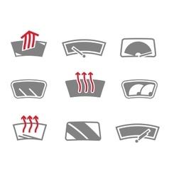 Car window icons vector image