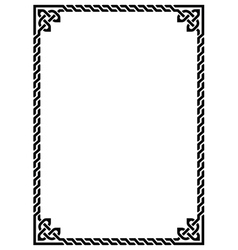 Celtic knot braided frame - rectangle vector image