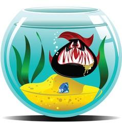 diamond in the aquarium vector image