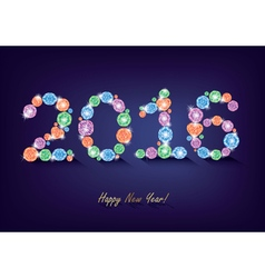 Diamond New Year 2016 vector image vector image